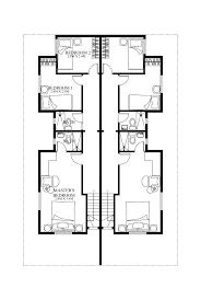 narrow mediterranean house plans two
