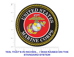 United States Marine Corps Seal Usmc Emblem 5 Round Vinyl Decal Sticker For Cars Trucks Laptops Etc Morale Tags