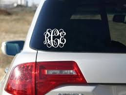 Monogram Car Decal Car Decals For Women Vinyl Decal Etsy