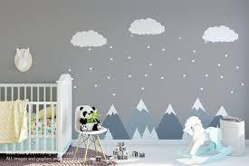 Modern Nursery Decor Modern Kids Room Decor Mountain Wall Decals Nursery Wall Decals Baby Wall Decals Nursery Wall Stickers