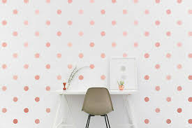 Papakit Round Polka Dot Confetti Wall Decal 2 Rose Gold Metallic 108 Stickers 9 49 Picclick