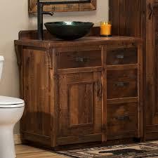 reclaimed barn wood vanity rustic