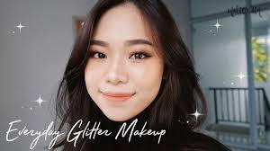 everyday glitter makeup tutorial you