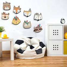 Waliicorners Nursery Childrens Room Wall Sticker Boho Tribal Indian Cartoon Fox Cat Wall Prints For Kids Baby Room Decoration Idea Waliicorner S Store