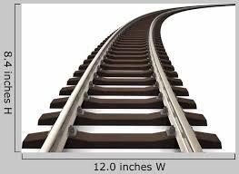 Curved Railroad Track Wall Decal Wallmonkeys Com