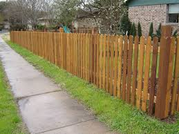 4 Ft Tall Dog Eared Semi Privacy Picket Fence 1000 In 2020 Wooden Fence Panels Wood Fence Fence Design