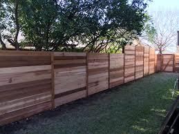 6 H Western Red Cedar Horizontal Fence