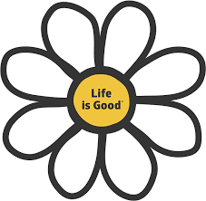 Amazon Com Life Is Good Die Cut Sticker Daisy Lig Cloud White Sports Outdoors