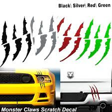 Die Cut Monster Claws Scratch Headlight Decal Vinyl Sticker Halloween Xotic Tech
