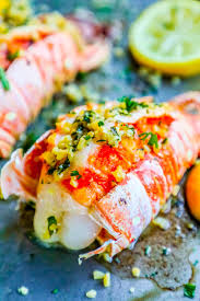 Garlic Butter Broiled Lobster Tails ...