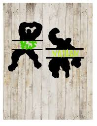 Hulk Name Decal Split Hulk Decal Hulk Yeti Decal Rtic Etsy