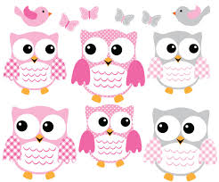 Amazon Com Owl Decals Pink And Gray Owl Wall Stickers Nursery Wall Art Baby