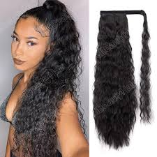 22 long wavy afro curly clip in