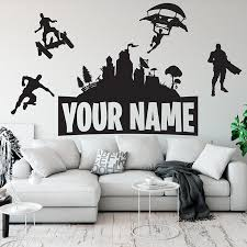 Customised Name Wall Sticker Vinyl Boys Gaming Room Kids Room Wall Decor Wall Decals For Gamer Room Decoration Accessories Z756 Wall Stickers Aliexpress