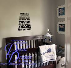 Personalized Long Ago In A Galaxy Far Away Star Wars Inspired Fan Art Vinyl Wall Decal Sold By Decal Drama On Storenvy