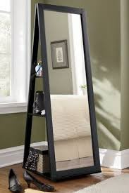 swivel base with mirror jewelry armoire