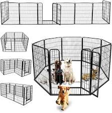 Amazon Com Nova Microdermabrasion Foldable Metal Exercise Pen Pet Playpen Kennel With Door Outdoor Indoor Play Yard Small Dog Puppy Cat Rabbit Fence Exercise Barrier Cage 8 Panels 40inches Pet Supplies