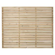 Forest Garden Single Slatted Fence Panel 6 X 5 Ft Multi Packs Wickes Co Uk