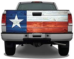 Amazon Com Texas Flag Distressed Wood Truck Tailgate Wrap Vinyl Graphic Decal Matte Automotive