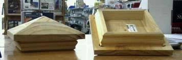 Buy Online Treated Pine Pyramid Post Caps Demak Outdoor Timber Hardware