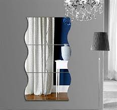 com wave mirror wall stickers