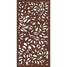 Modinex 6 Ft X 3 Ft Espresso Brown Modinex Decorative Composite Fence Panel In The Botanical Design Usamod4e The Home Depot