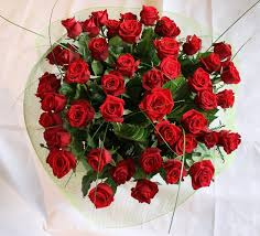 50 romantic red roses same or next