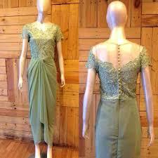 Tersedia dress brokat dengan aneka model. Kebaya Dress For My Best Friend Wedding Mint Drapery Dress Pakaian Natal Pakaian Wanita Model Pakaian Wanita