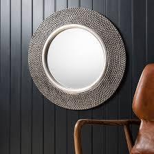 whitton wall mirror round with bobble