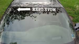 Move Over Arrow Funny Decal Sticker Window Car Truck Graphic Racing Banner Usa For Sale Online