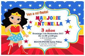 Invitaciones De Mujer Maravilla Para Editar Gratis Buscar Con