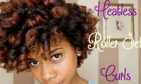 perfect curls with heat less roller set