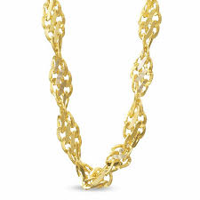 2 1mm singapore chain necklace in 14k