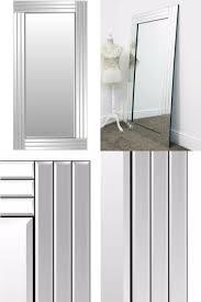 wall mirror modern silver bevelled