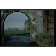 005096 Ocean View Through Brick Arch Fence A4 Photo Poster Print 10x8 On Ebid New Zealand 156715538