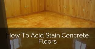 how to acid sned concrete floors