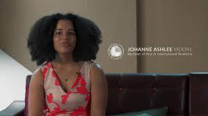 IUG Student - Johanne Ashlee Moore Bachelor of International ...