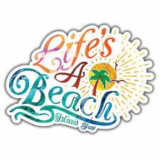 Flip Flop Nut Die Cut Beach Sticker Islandjay