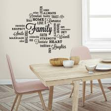 Family Quotes Wall Decals Black Letter Room Decor Stickers Loving Words Home For Sale Online Ebay