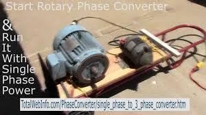 3 phase rotary phase converter