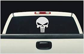 Amazon Com Oracal Punisher Window White Decal Sticker Compatible With Chevrolet Car 8 X12 White Automotive