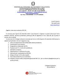 INIZIO A.S. 2019-2020 – Piersanti Mattarella