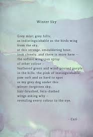 winter sky winter weather poetry writing quote poem