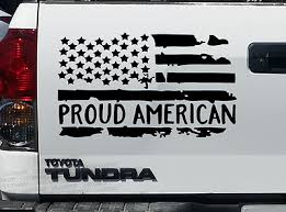 Veteran Distressed Usa Flag Vinyl Sticker Decal Window Military Retired 2pk