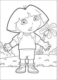 Dora Kleurplaat Gratis Kleurplaten Printen