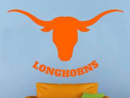 Texas Longhorns Wall Vinyl Decal Sticker Sport Home Decor Ncaa Football Emblem Ebay