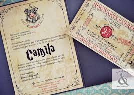 Una Tarjeta De 15 Anos De Harry Potter Invitaciones De Harry