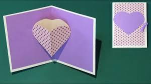 diy carte pop up coeur facile you