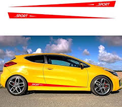 Amazon Com Autotoper Car Side Door Skirt Strip Sticker Decals For Kia Ceed Forte Soul Stonic Sportage Cerato Rio Sedan Niro Racing Red Vinyl Car Decal Accessories Styling 1 Pair L R Automotive