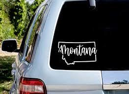 Montana Decal Montana Sticker Montana State Decal Montana Car Decal Montana Car Sticker State Car Decal State Car Sticker State Decal Amazon Co Uk Diy Tools